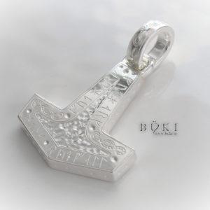 Torshammare i Silver med Runor