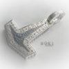 Torshammare i oxiderat Silver med Runor