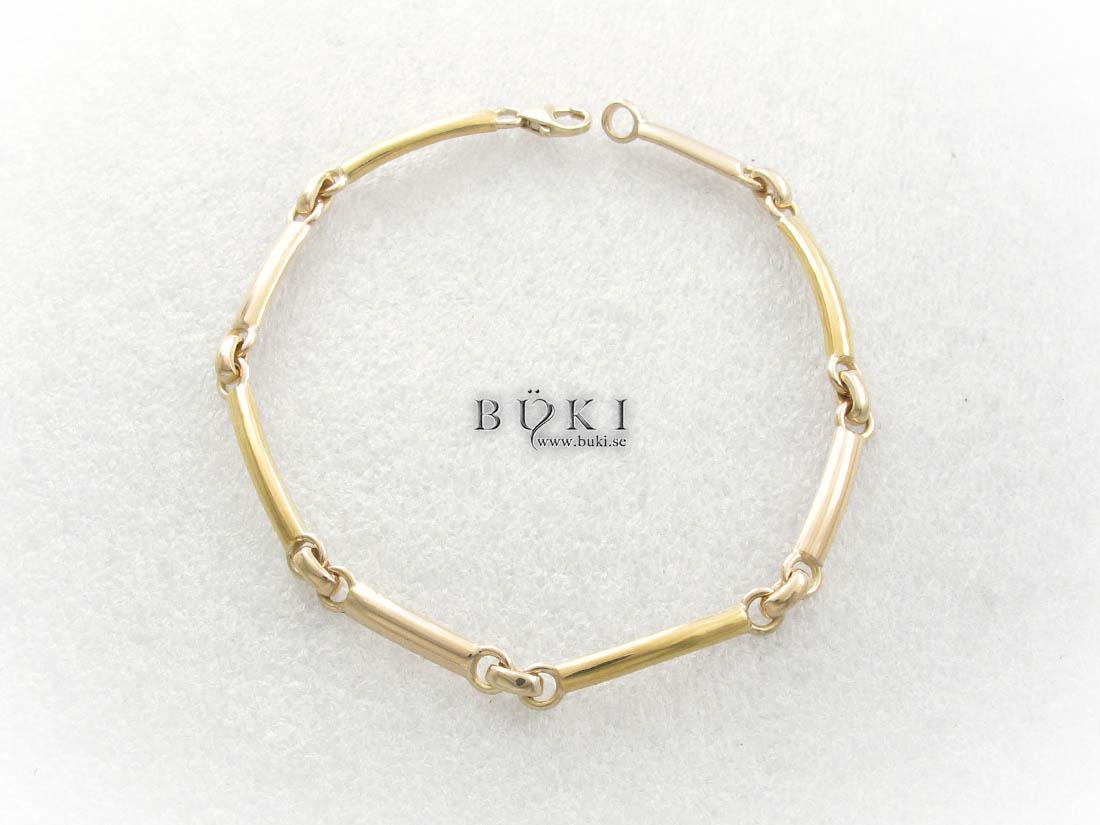 armband-i-18k-och-23k-guld-gjort-av-gamla-släta-ringa