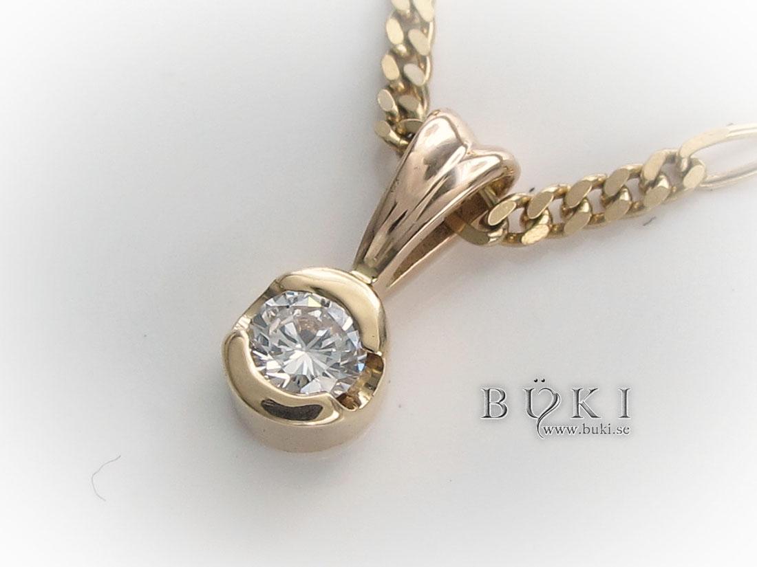 Diamanthänge-18k-guld