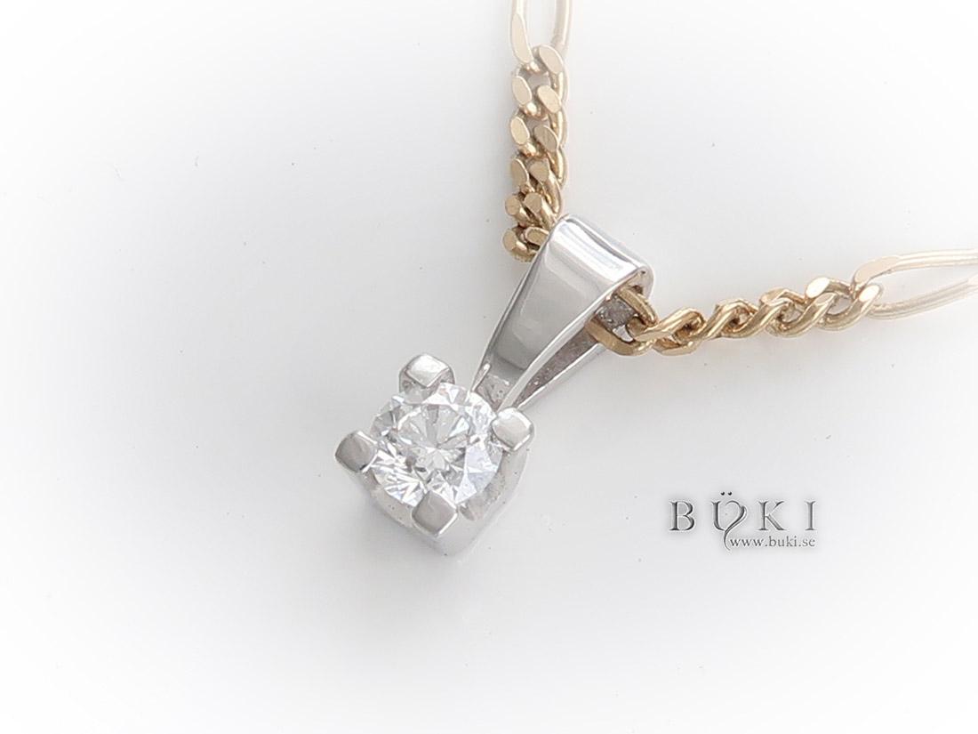 Diamanthänge-18k-vitguld